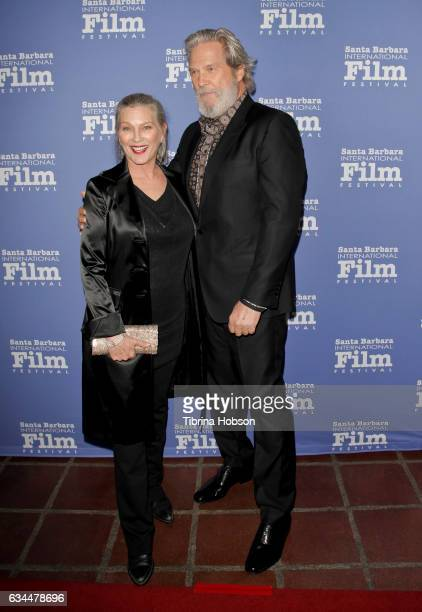 Jeff Bridges and Susan Geston attend the 32nd Santa Barbara International Film Festival 'American Riviera Tribute' at Arlington Theater on February 9...