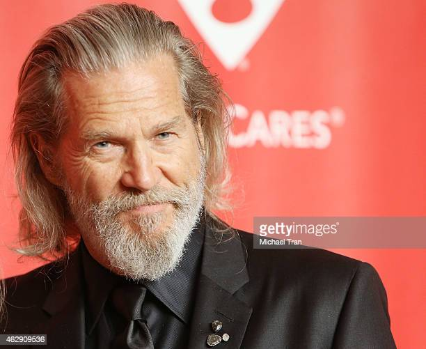Jeff Bridges arrives at the 2015 MusiCares Person of The Year honoring Bob Dylan held at Los Angeles Convention Center on February 6 2015 in Los...