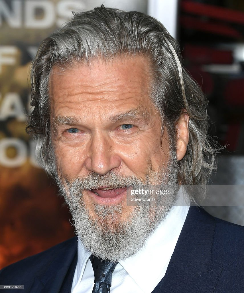 Jeff Bridges arrives at the Premiere Of Columbia Pictures' 'Only The Brave' at Regency Village Theatre on October 8, 2017 in Westwood, California.