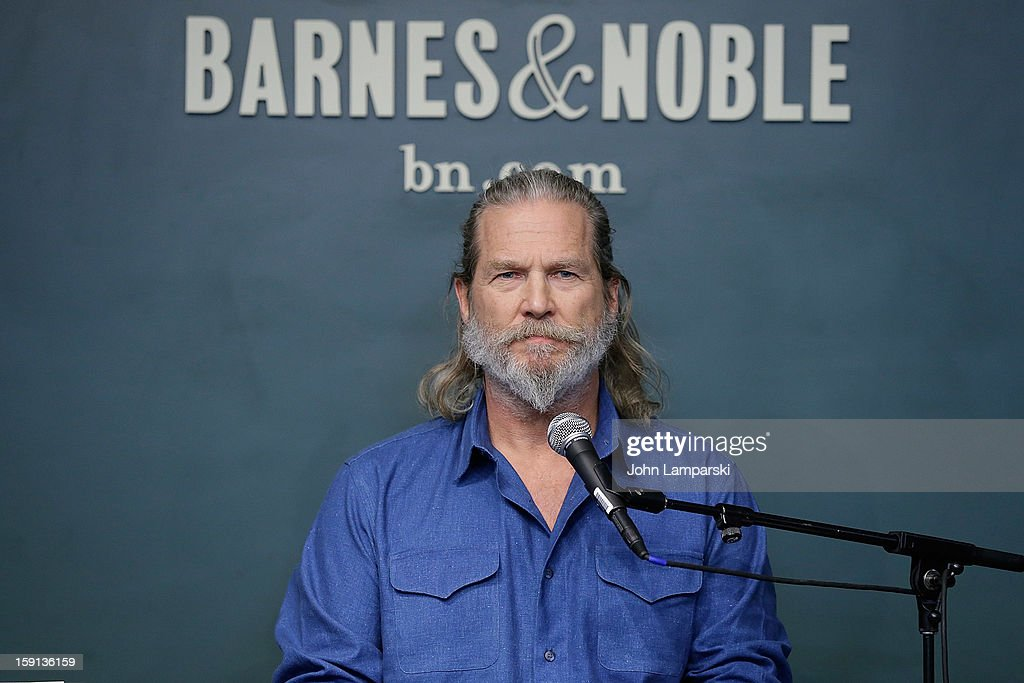 Jeff Bridges attends Jeff Bridges and Bernie Glassman in Conversation With James Shaheen: 'The Dude and the Zen Master' at Barnes & Noble Union Square on January 8, 2013 in New York City.