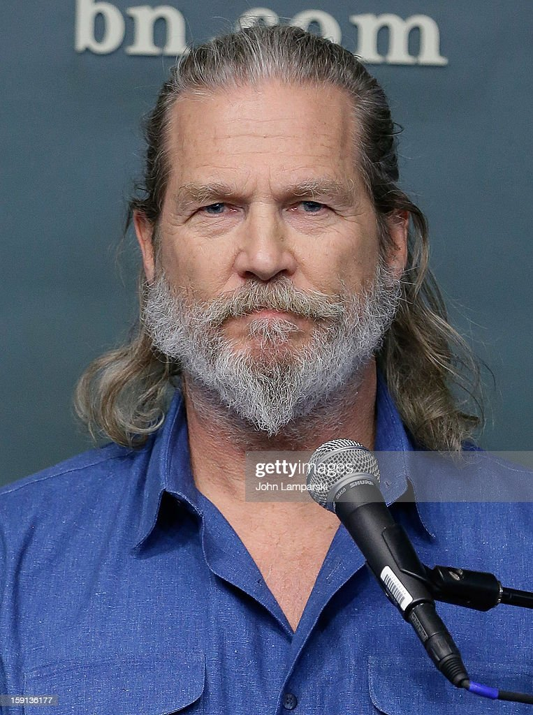 <a gi-track='captionPersonalityLinkClicked' href=/galleries/search?phrase=Jeff+Bridges&family=editorial&specificpeople=201735 ng-click='$event.stopPropagation()'>Jeff Bridges</a> attends <a gi-track='captionPersonalityLinkClicked' href=/galleries/search?phrase=Jeff+Bridges&family=editorial&specificpeople=201735 ng-click='$event.stopPropagation()'>Jeff Bridges</a> and Bernie Glassman in Conversation With James Shaheen: 'The Dude and the Zen Master' at Barnes & Noble Union Square on January 8, 2013 in New York City.