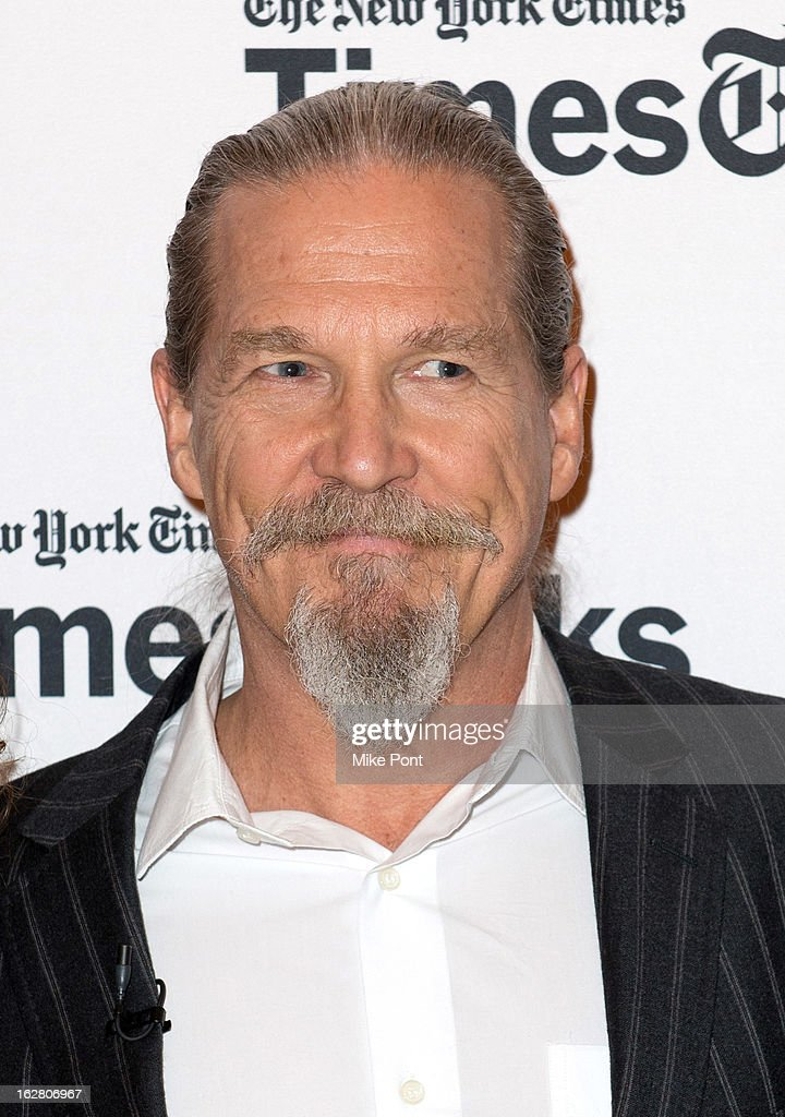 Jeff Bridges attends NY Times TimesTalks Presents 'A Place At The Table' at TheTimesCenter on February 27 2013 in New York City