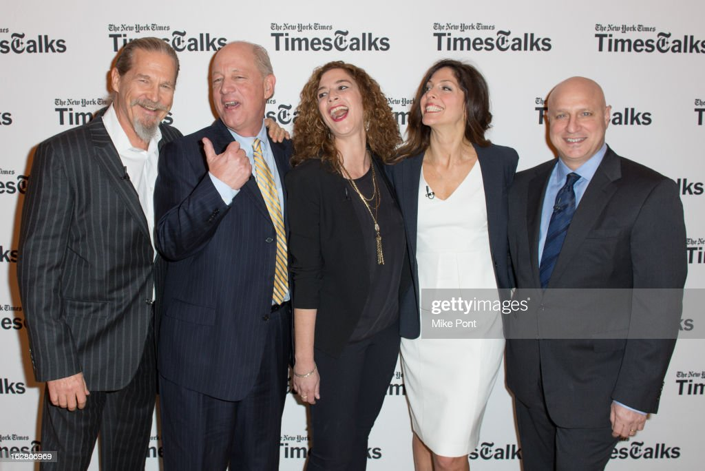 Jeff Bridges Bill Shore Kristi Jacobson Lori Silverbush and Tom Colicchio attend NY Times TimesTalks Presents 'A Place At The Table' at...