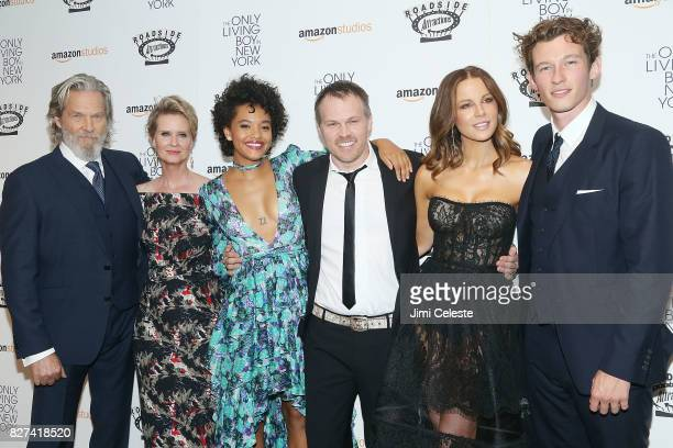 Jeff Bridges Cynthia NIxon Kiersey Clemons Marc Webb Kate Beckinsale and Callum Turner attend the New York premiere of 'The Only Living Boy in New...