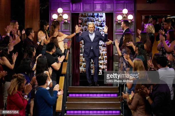 Jeff Bridges greets the audience during 'The Late Late Show with James Corden' Monday October 9 2017 On The CBS Television Network