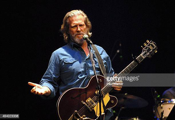 Jeff Bridges performs with the Abiders in a concert that Bridges dedicated to his late friend Robin Williams at The Venue at The Horseshoe Casino on...