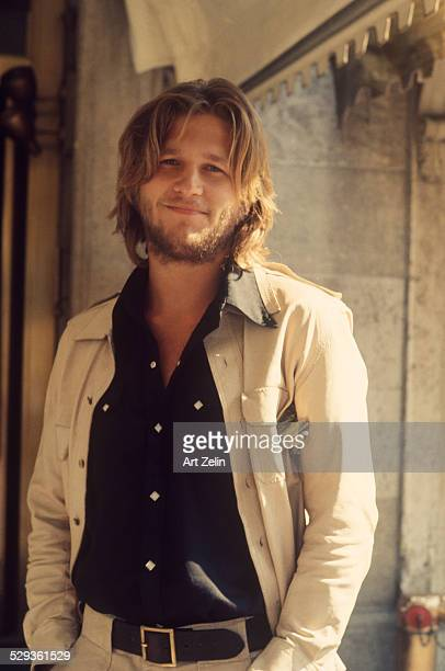 Jeff Bridges standing outside in New York city circa 1970 New York