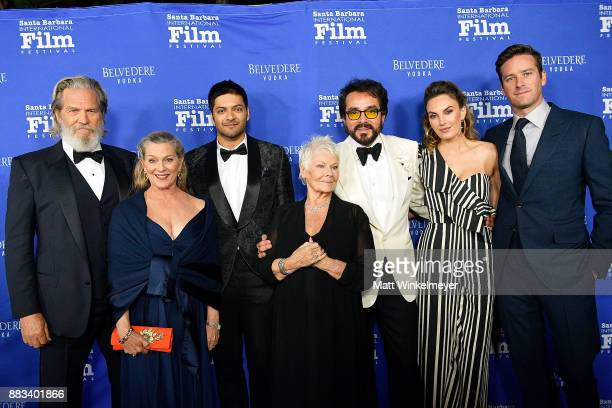 Jeff Bridges Susan Geston Ali Fazal Dame Judi Dench SBIFF Executive Director Roger Durling Elizabeth Chambers and Armie Hammer attend the Santa...