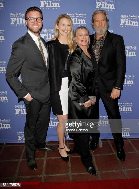Jeff Bridges Susan Geston their daughter and Guest attend the 32nd Santa Barbara International Film Festival 'American Riviera Tribute' at Arlington...