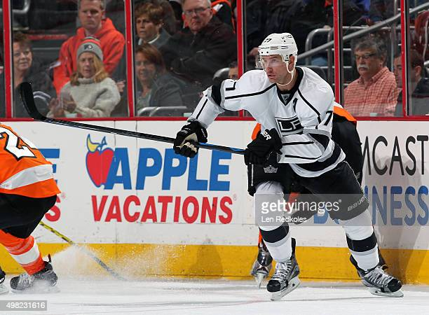 Jeff Carter of the Los Angeles Kings skates against the Philadelphia Flyers on November 17 2015 at the Wells Fargo Center in Philadelphia Pennsylvania