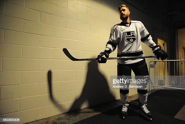 Jeff Carter of the Los Angeles Kings waits in the hallway before taking on the New York Rangers in Game Three of the 2014 Stanley Cup Final at...