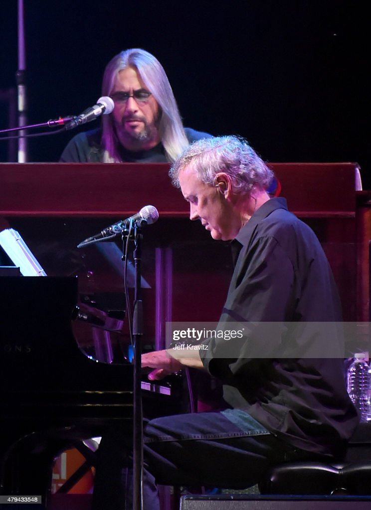 Jeff Chimenti and Bruce Hornsby of The Grateful Dead perform during the 'Fare Thee Well, A Tribute To The Grateful Dead' on July 3, 2015 in Chicago, Illinois.