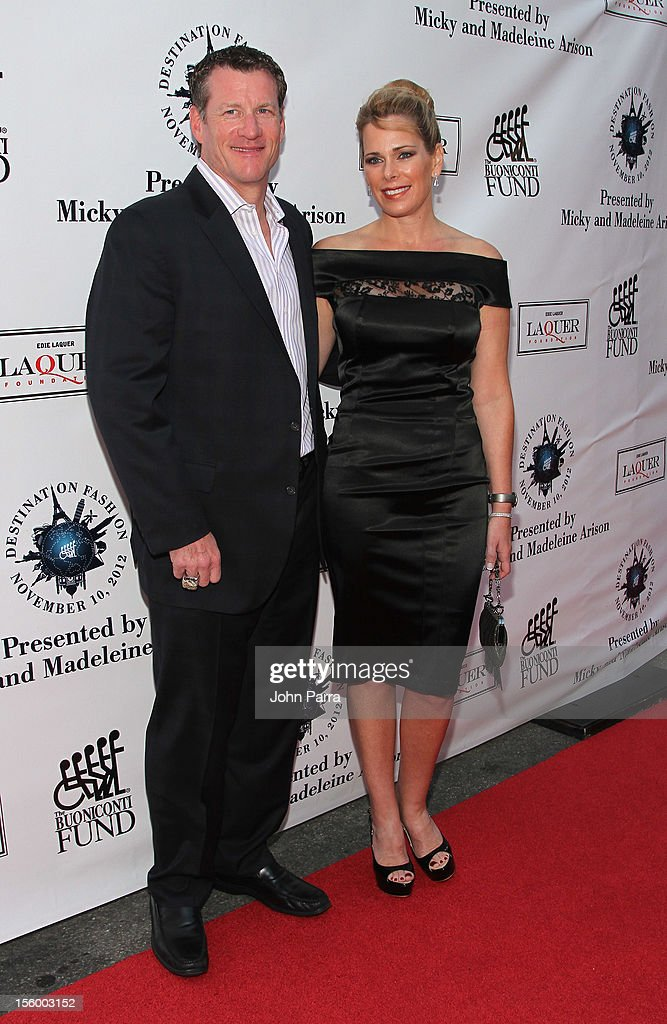 Jeff Conine, former Florida Marlins player, and wife Cindy Conine attend Destination Fashion 2012 To Benefit The Buoniconti Fund To Cure Paralysis, the fundraising arm of The Miami Project to Cure Paralysis, on November 10, 2012 in Miami, Florida.