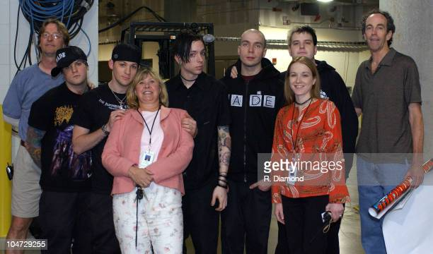 Jeff Davis Charlie Strobel with Epic RecordsCheryl Ann Gee Marcia Thomas with The Arena at Gwinnett Center backstage with Good Charlotte
