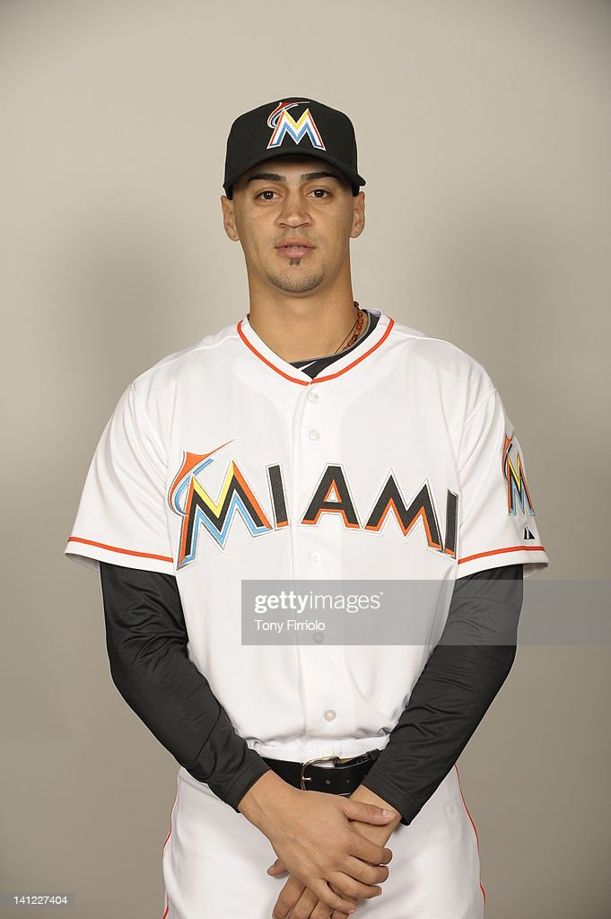 Jeff Dominguez (79) of the Miami Marlins poses during Photo Day on Monday, February 27, 2012 at Roger Dean Stadium in Jupiter, Florida.
