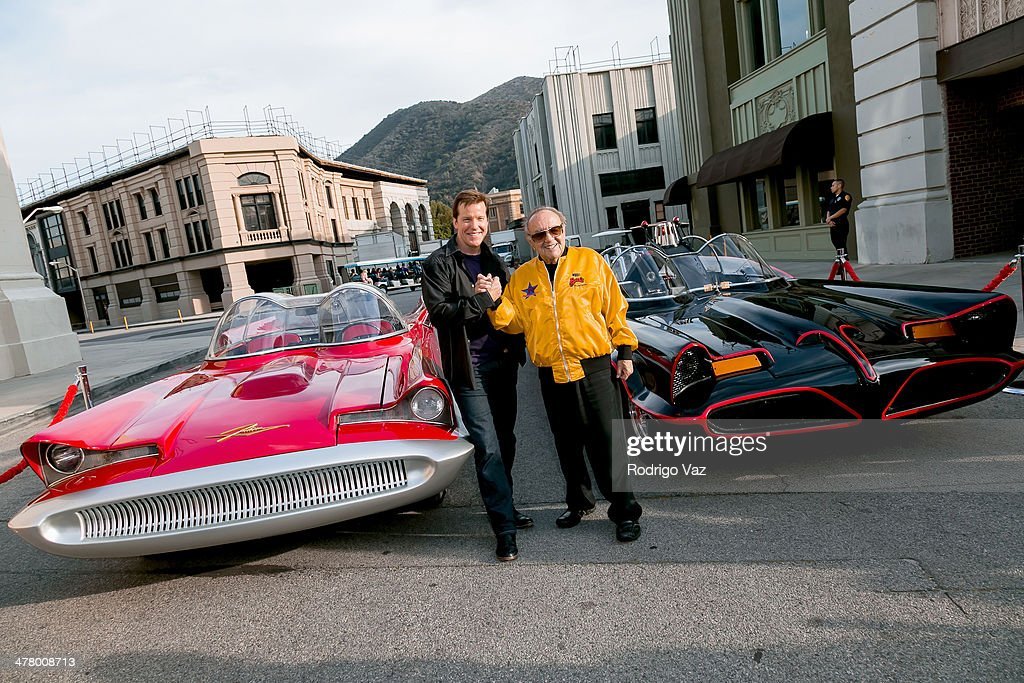 Jeff Dunham (L) and George Barris attend the Warner Bros. VIP Tour 'Meet The Family' Speaker Series - Cars For Movie/TV at Warner Bros. Tour Center on March 11, 2014 in Burbank, California.