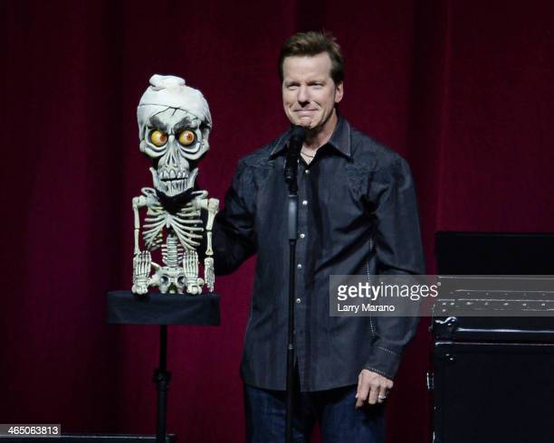 Jeff Dunham performs at BBT Center on January 25 2014 in Sunrise Florida