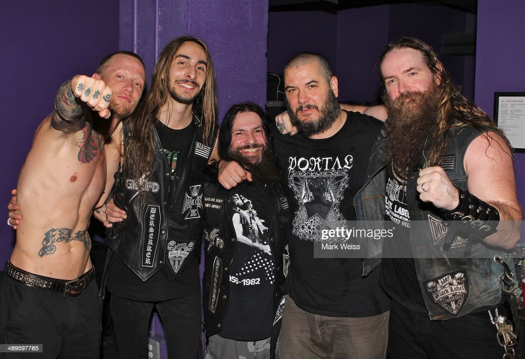 Jeff Fabb, Dario Lorina, John DeServio of Black Label Society, Phil Anselmo of Down and Zakk Wylde of Black Label Society after their performance of Pantera's 'I'm Broken' with Black Label Society at Best Buy Theater at on May 10, 2014 in New York, New York.