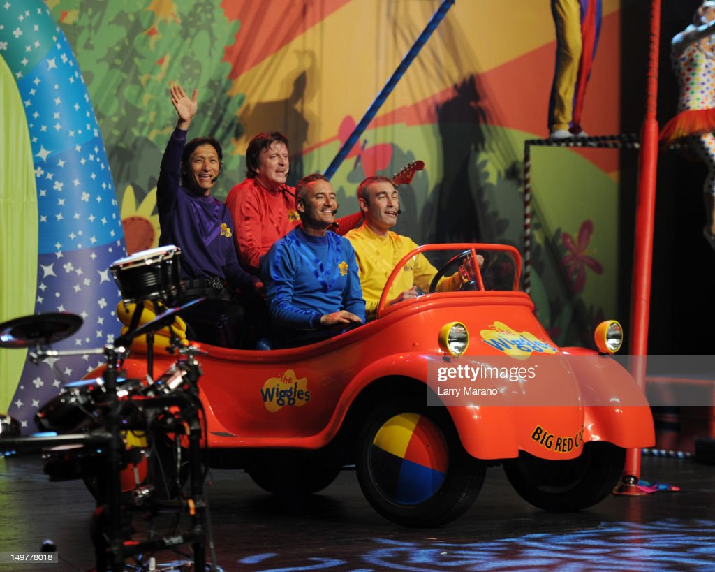 Jeff Fatt, Anthony Field, Greg Page and Murray Cook of The Wiggles perform at Fillmore Miami Beach on August 3, 2012 in Miami Beach, Florida.