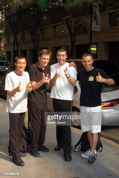Jeff Fatt Murray Cook Greg Page and Anthony Field of The Wiggles