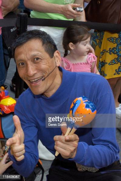 Jeff Fatt of The Wiggles during Dermot Mulroney Tiki Barber and The Wiggles Visit the 'Today' Show July 27 2005 at The 'Today' Show Studios in New...