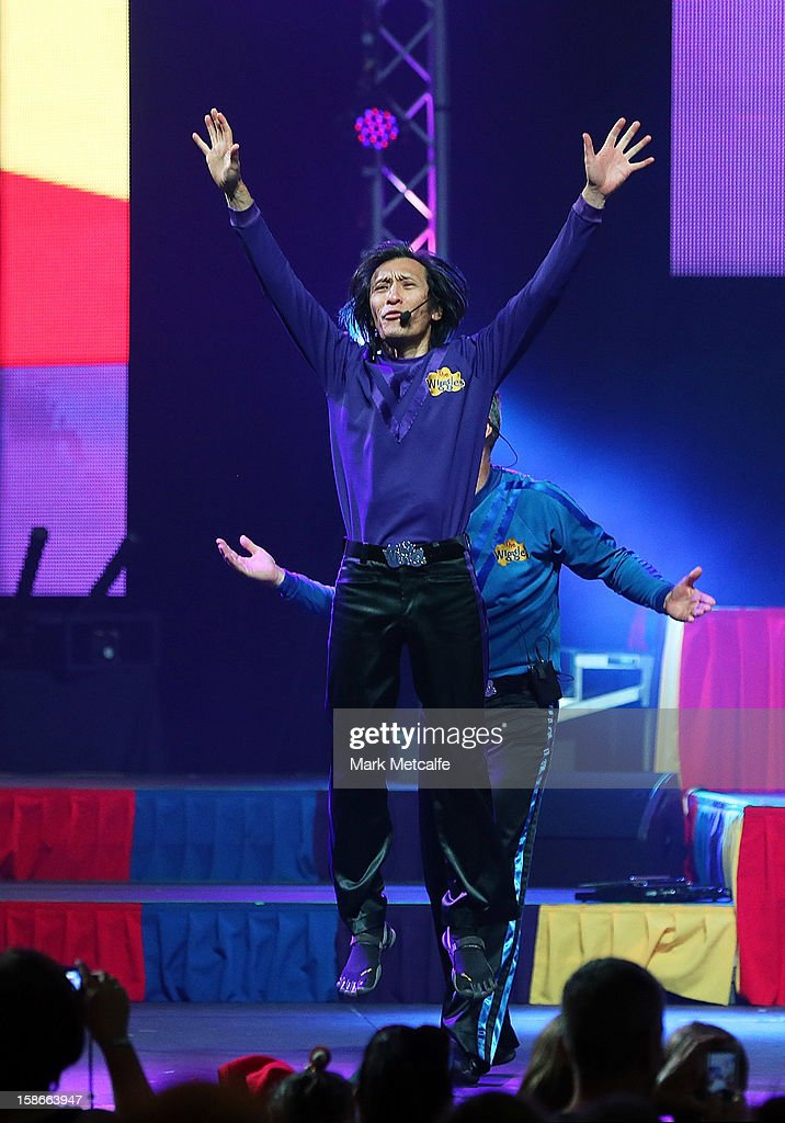 Jeff Fatt of The Wiggles performs on stage during The Wiggles Celebration Tour at Sydney Entertainment Centre on December 23, 2012 in Sydney, Australia. This concert is the final time the original members of The Wiggles will perform on stage together as Greg, Murray and Jeff are retiring.