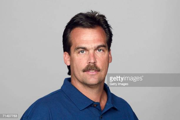 Jeff Fisher of the Tennessee Titans poses for his 2006 NFL headshot at photo day in Nashville Tennessee