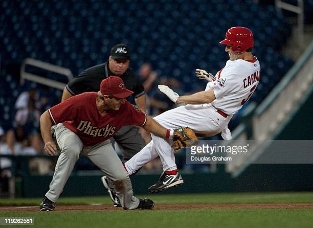 Jeff Flake RAZ puts the tag on Russ Carnahan DMO at 3rd The came lose however and Carnahan was safe at 3rd during the 50th Annual Roll Call...