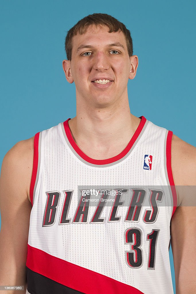 Jeff Foote #31 of the Portland Trail Blazers poses for a portrait during Media Day on December 16, 2011 at the Rose Garden Arena in Portland, Oregon.