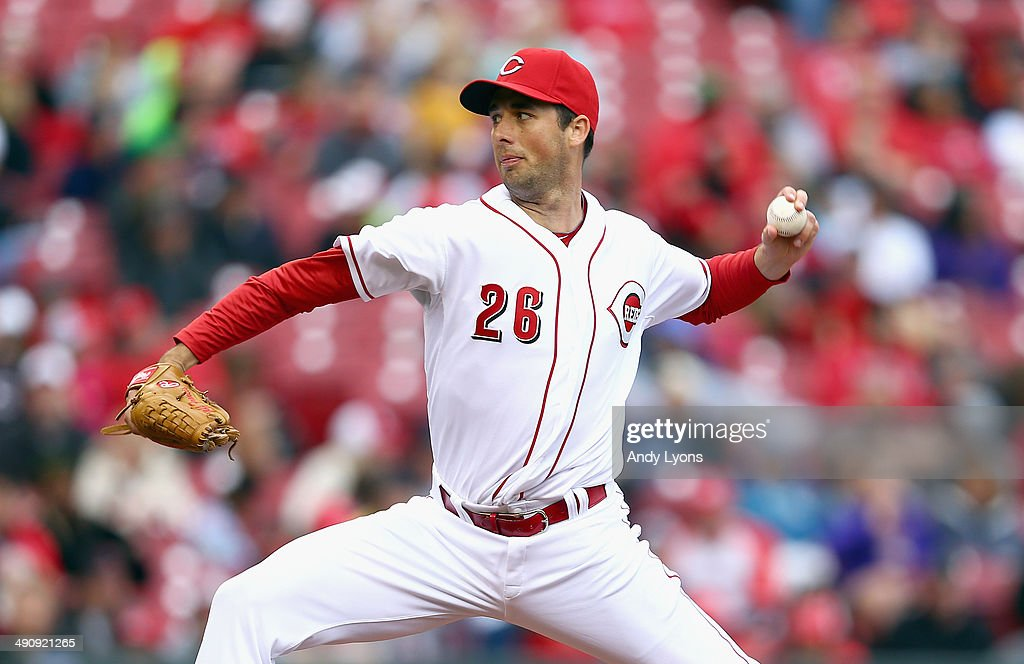 Jeff Francis of the Cincinnati Reds throws a pitch during the second game of a doubleheader against the San Diego Padres at Great American Ball Park...