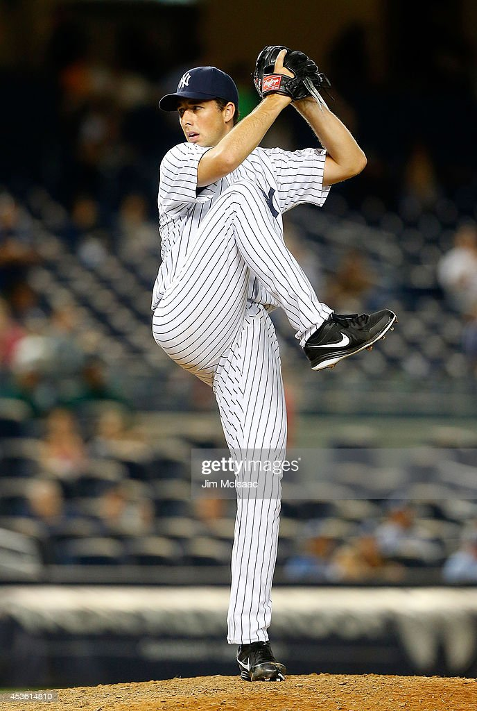 Jeff Francis of the New York Yankees in action against the Texas Rangers at Yankee Stadium on July 22 2014 in the Bronx borough of New York City The...