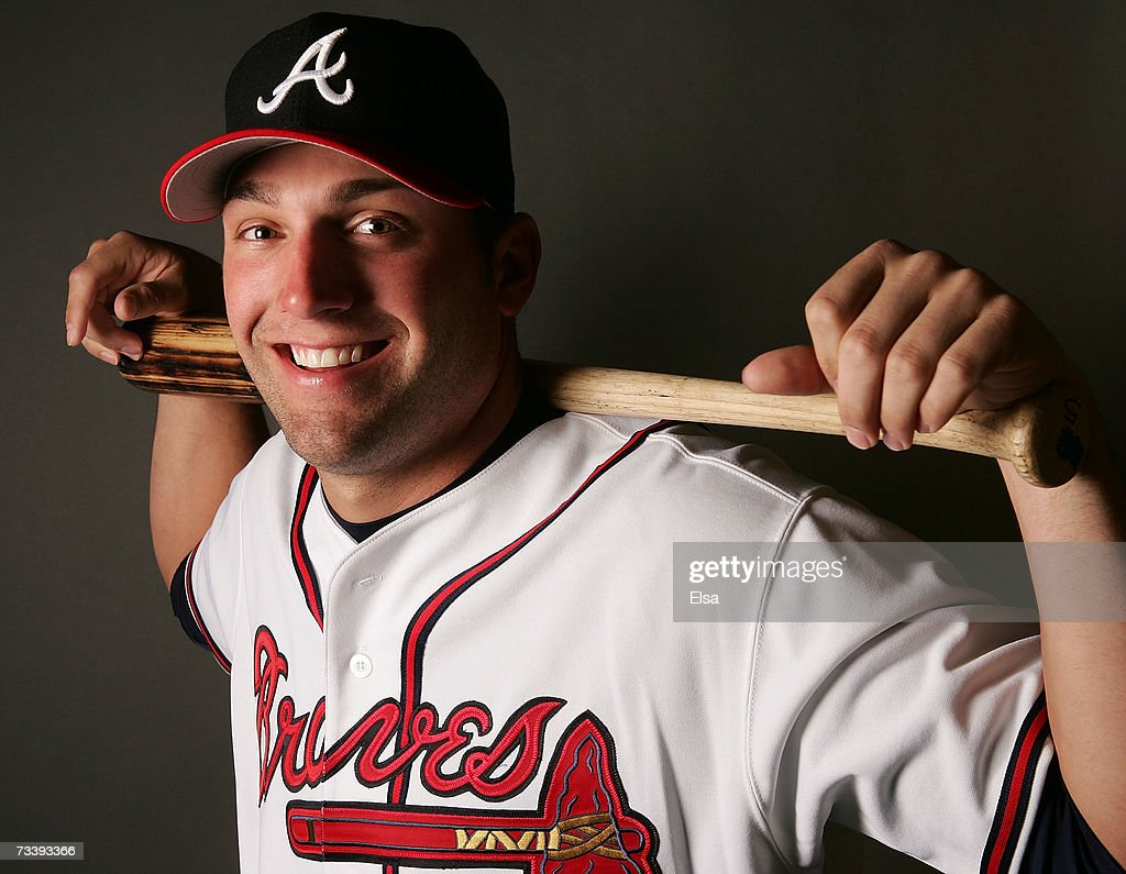 Jeff Francoeur#7 poses for a portrait during the Atlanta Braves Photo Day on February 22 2007 at The Ballpark at Disney's Wide World of Sports in...