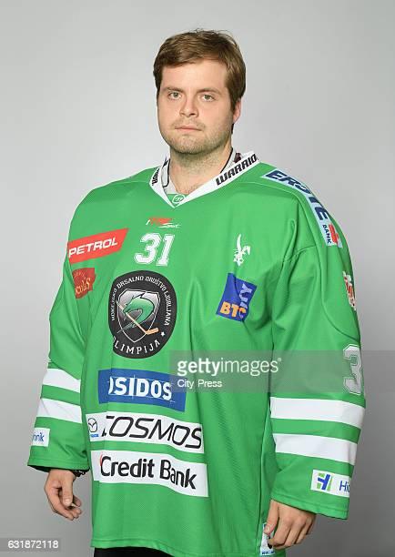 Jeff Frazee of HDD Olimpija Ljubljana during the portrait shot on September 16 2016 in Ljubljana Slovenia