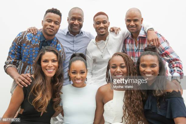 Jeff Friday and Nichole Friday Poses with ABFF Actors for a Portrait on Day 3 of the American Black Film Festival on June 14 2017 in Miami Florida