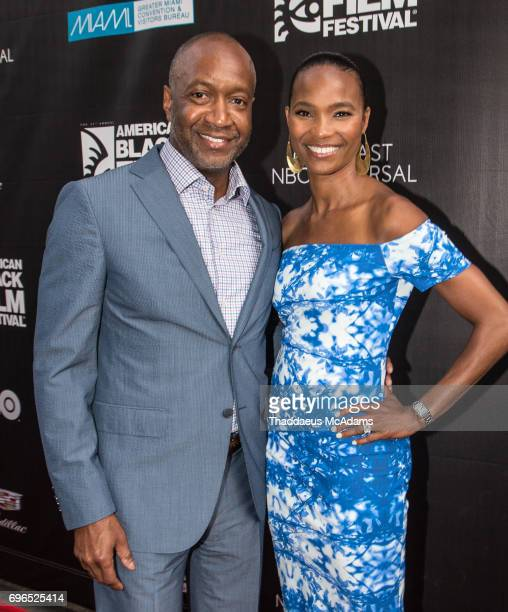 Jeff Friday and Nicole Friday attend 2017 American Black Film Festival on June 14 2017 in Miami Florida