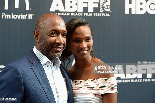 Jeff Friday and Nicole Friday attends American Black Film Festival Opening Night Film 'Central Intelligence' on June 15 2016 in Miami Florida