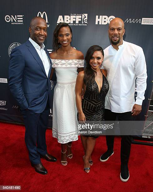 Jeff Friday Nicole Friday Danielle Nicolet and Common attend American Black Film Festival Opening Night on June 16 2016 in Miami Florida