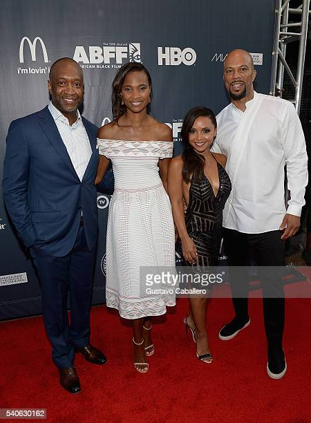 Jeff Friday Nicole Friday Danielle Nicolet and Common atttends American Black Film Festival Opening Night Film 'Central Intelligence' on June 15 2016...
