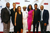 Jeff Friday Tonya Lee Satchel Lee director Spike Lee Nicole Friday Jackson Lee and Omari Hardwick attend 'Da Sweet Blood Of Jesus' world premiere...