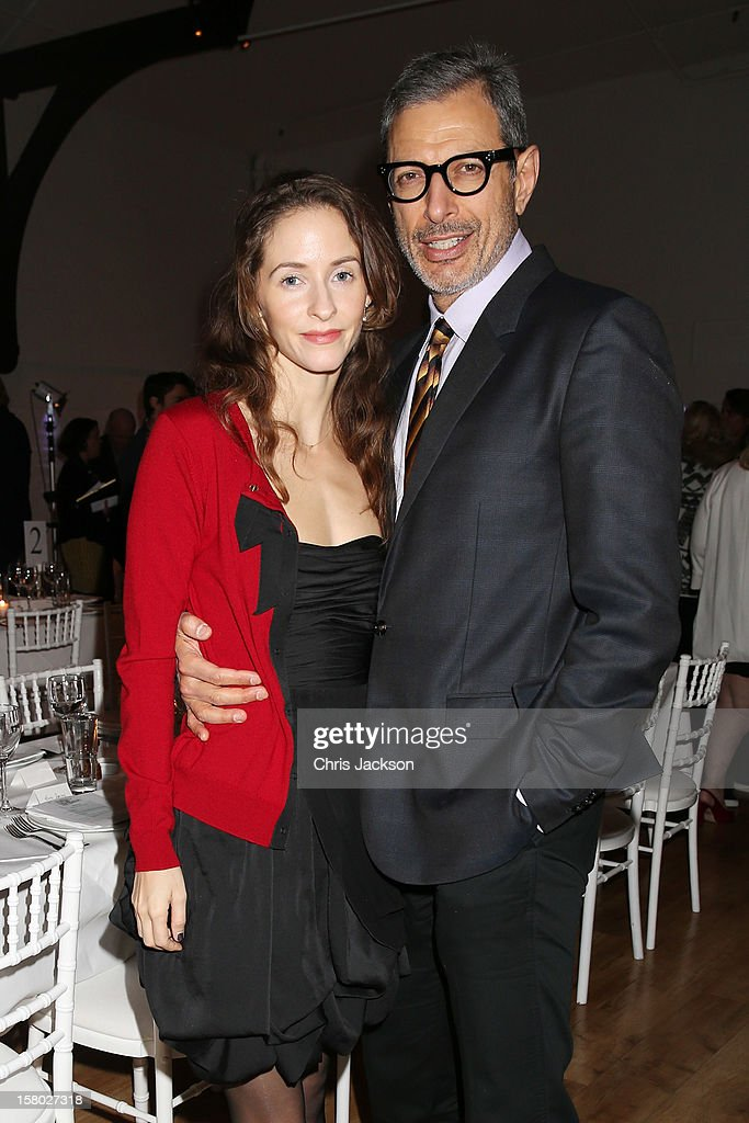 Jeff Goldblum (R) and Emilie Livingston attend the VIP backstage dinner ahead of this year's Old Vic 24 Hour Musicals Celebrity Gala at The Old Vic Theatre on December 9, 2012 in London, England.