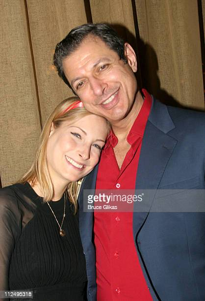 Jeff Goldblum and fiancee Catherine Wreford during Opening Night of Martin McDonagh's 'The Pillowman' on Broadway Curtain Call and After Party at...