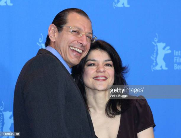 Jeff Goldblum and Jasmin Tabatabai during 57th Berlin International Film Festival 'Fay Grim' Photocall at Grand Hyatt Hotel in Berlin Berlin Germany