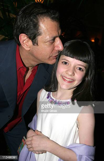 Jeff Goldblum and Madeleine Martin during Opening Night of Martin McDonagh's 'The Pillowman' on Broadway Curtain Call and After Party at Osteria...