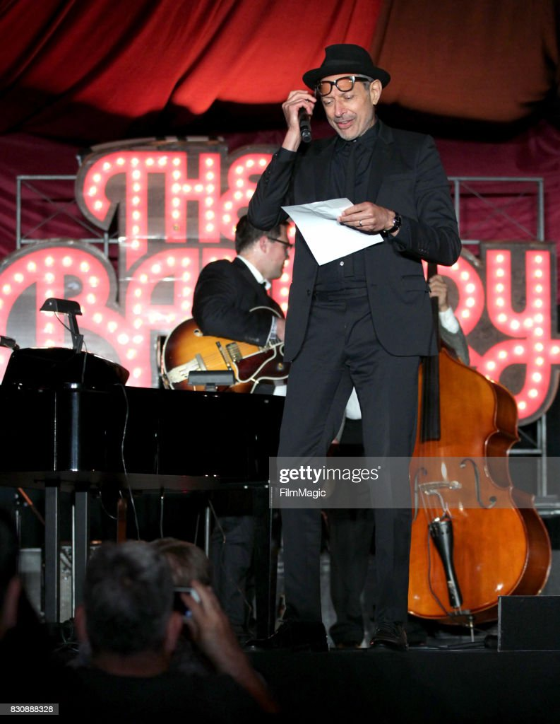 Jeff Goldblum and The Mildred Snitzer Orchestra perform on The Barbary Stage during the 2017 Outside Lands Music And Arts Festival at Golden Gate Park on August 12, 2017 in San Francisco, California.