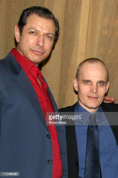 Jeff Goldblum and Zeljko Ivanek during Opening Night of Martin McDonagh's 'The Pillowman' on Broadway Curtain Call and After Party at Osteria Stella...