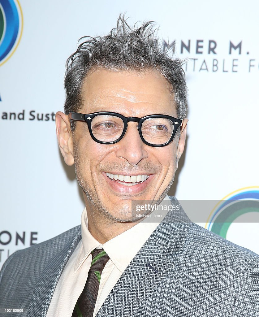 <a gi-track='captionPersonalityLinkClicked' href=/galleries/search?phrase=Jeff+Goldblum&family=editorial&specificpeople=204160 ng-click='$event.stopPropagation()'>Jeff Goldblum</a> arrives at the 2nd annual an Evening of Environmental Excellence Gala held at a private residence on March 5, 2013 in Beverly Hills, California.