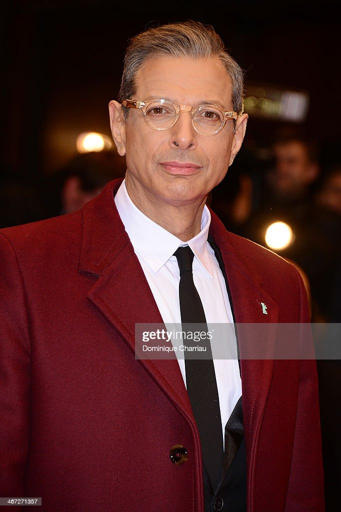 <a gi-track='captionPersonalityLinkClicked' href=/galleries/search?phrase=Jeff+Goldblum&family=editorial&specificpeople=204160 ng-click='$event.stopPropagation()'>Jeff Goldblum</a> attends 'The Grand Budapest Hotel' Premiere during the 64th Berlinale International Film Festival at Berlinale Palast on February 6, 2014 in Berlin, Germany.