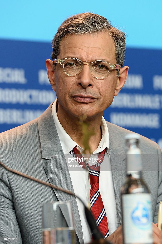 <a gi-track='captionPersonalityLinkClicked' href=/galleries/search?phrase=Jeff+Goldblum&family=editorial&specificpeople=204160 ng-click='$event.stopPropagation()'>Jeff Goldblum</a> attends 'The Grand Budapest Hotel' press conference during 64th Berlinale International Film Festival at Grand Hyatt Hotel on February 6, 2014 in Berlin, Germany.