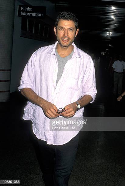 Jeff Goldblum during Jeff Goldblum Sighting at Los Angeles International Airport July 2 1996 at Los Angeles International Airport in Los Angeles...