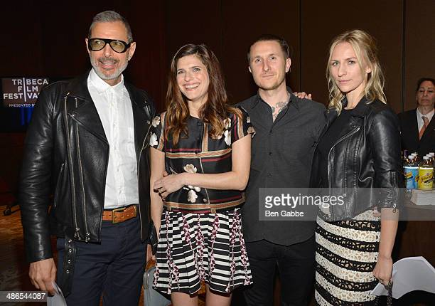 Jeff Goldblum Lake Bell Scott Campbell and Mickey Sumner attend the TFF Awards Night during the 2014 Tribeca Film Festival at Conrad New York on...